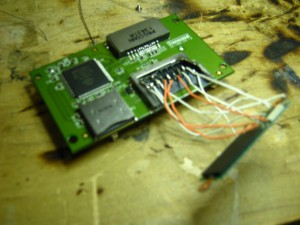 The custom built chip reader at a Gillware soldering bench