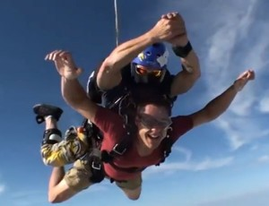Oliver sky diving