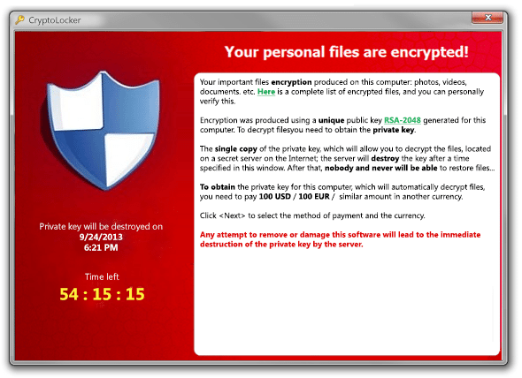 Two cryptolocker ransomware cases in two days | Gillware Inc