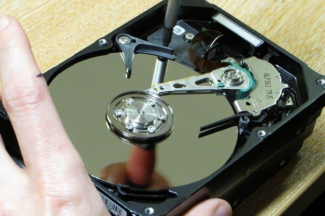 inside of hard drive
