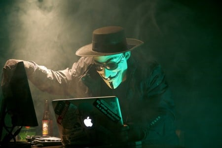 Anonymous, Hacker, Guy Fawkes, Black hat