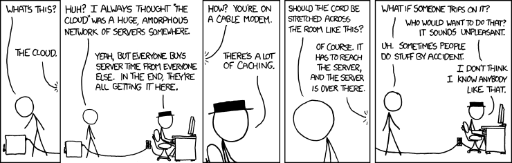"Randall Munroe's XKCD provides a humorous take on ""the Cloud"""