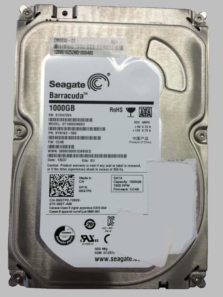 Seagate Barracuda 1TB hard drive