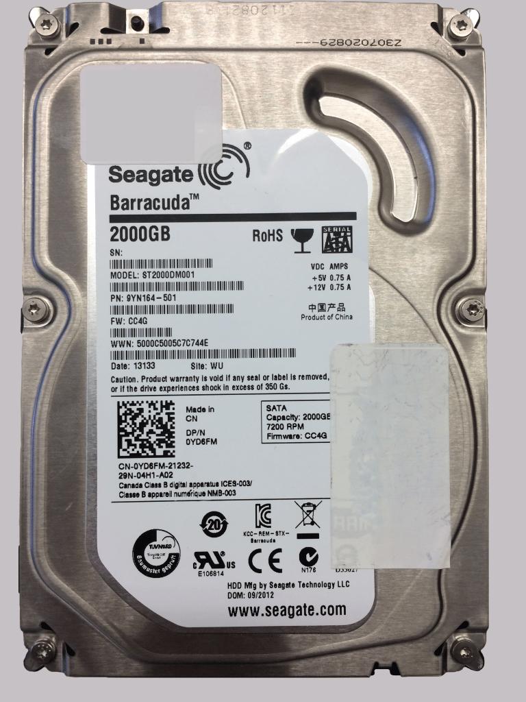 Seagate Barracuda 2TB hard drive
