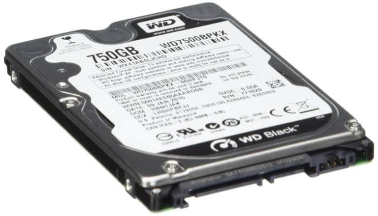 Western Digital 750GB hard drive