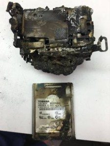 Burned Camcorder and Hard Drive