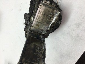 burned camera