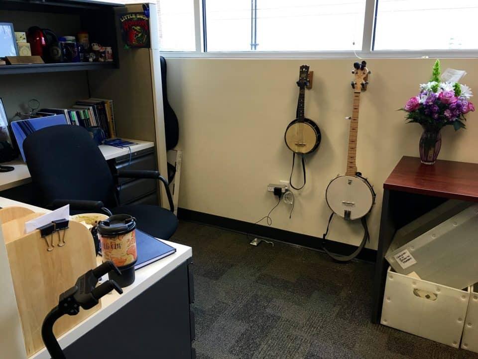 Banjos on the wall