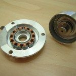 Hard drive spindle motor removed from chassis and dismantled