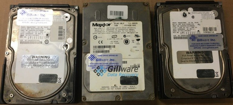 3 hard drives affected by acid