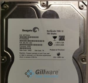 This Seagate Barracuda hard drive has a hard drive firmware bug.