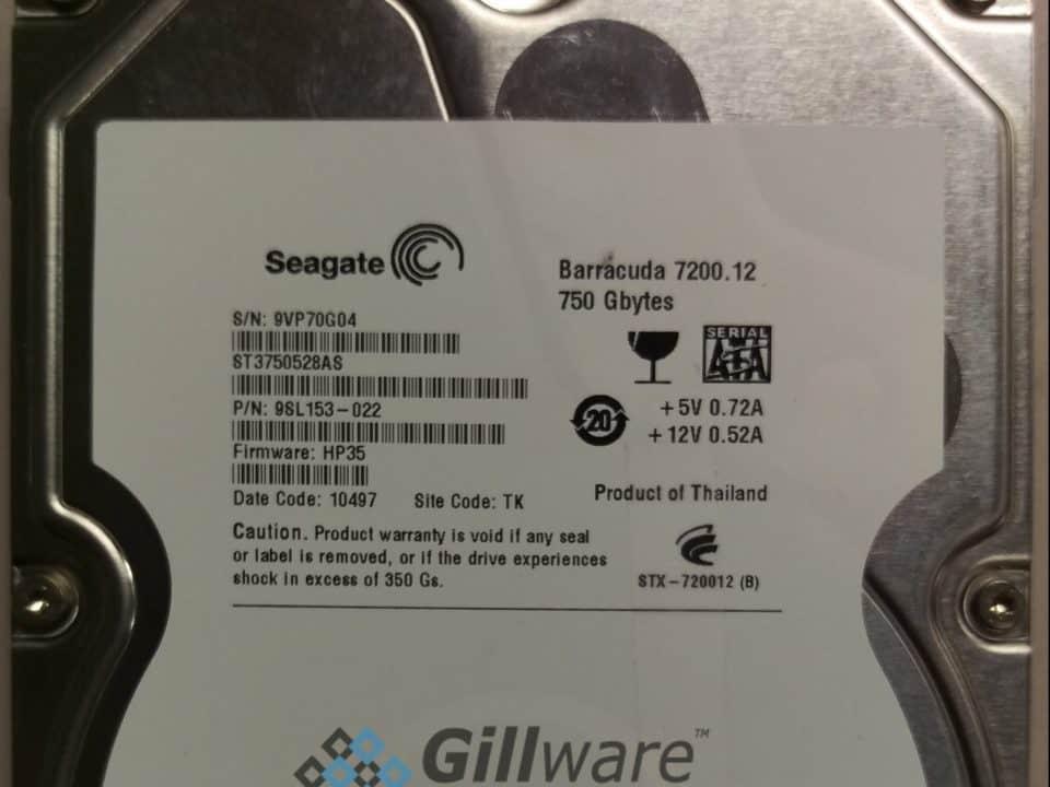 Seagate Barracuda 750GB hard drive