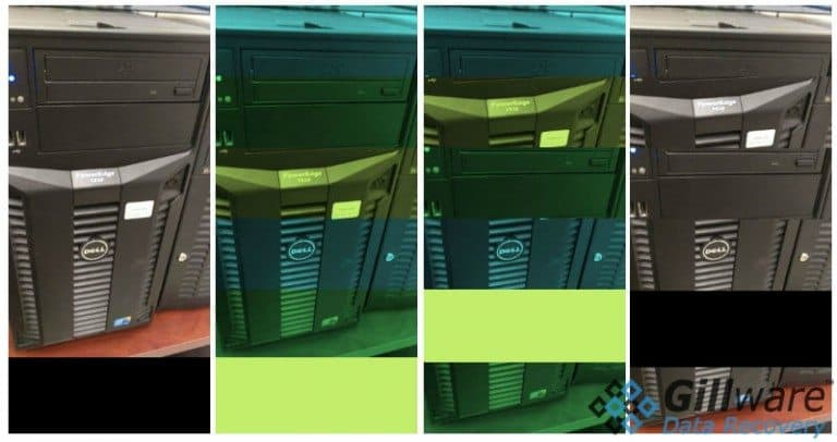 Picture of server in multiple colors