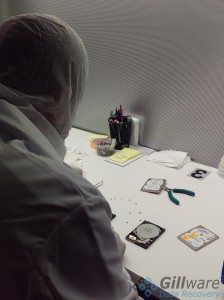 The engineers in Gillware's cleanroom operate on models from all hard drive manufacturers.