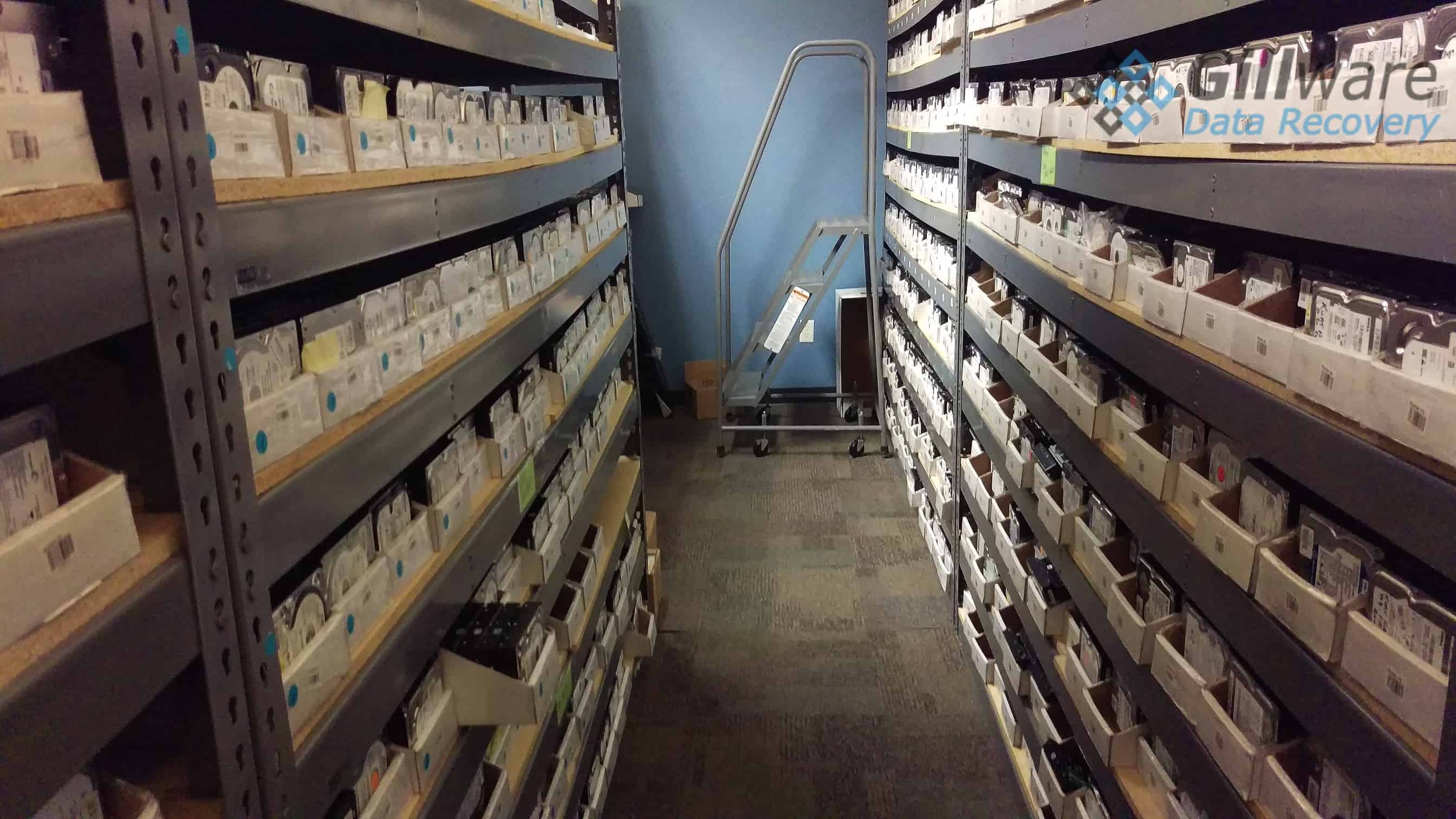 A peek into Gillware's donor hard drive library, where the correct part is never too far away