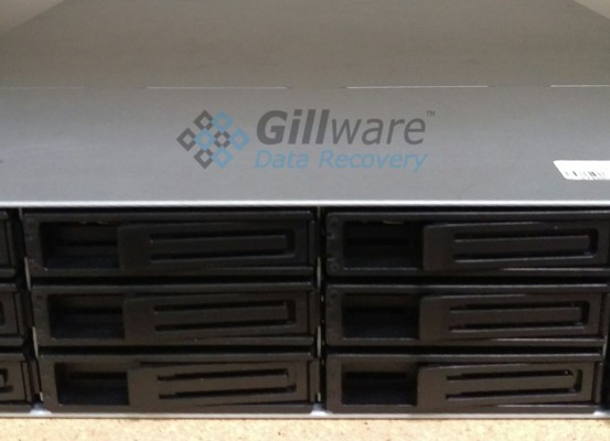This Synology RackStation RS3412xs server was brought to Gillware for data recovery. If you've lost any of the data on your server, our server data recovery technicians here at Gillware can get it back for you.