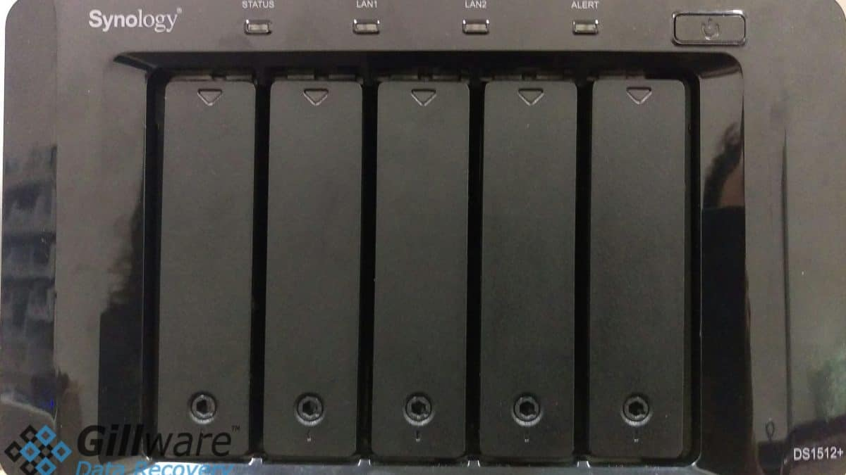 Power Surge Data Recovery Case: Synology RAID-5 NAS Device
