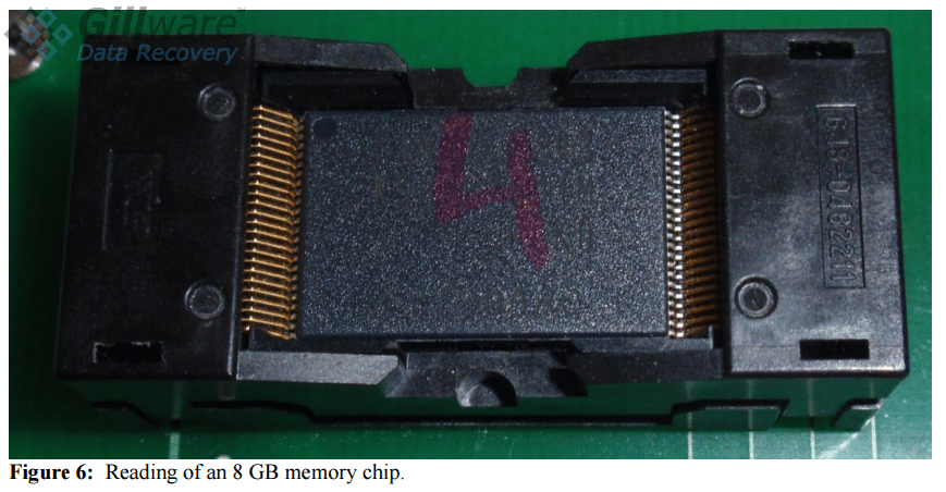 Figure 6: SSD recovery involves removing and individually reading NAND chips