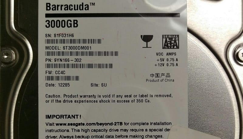 Seagate Barracuda 3TB Hard Drive