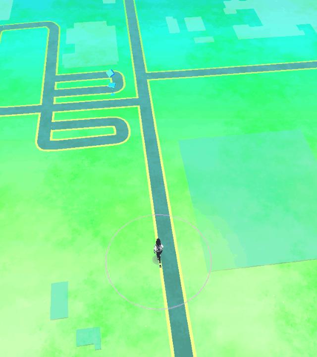 Pokemon Go map screen