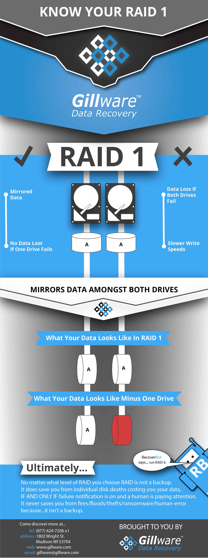 RAID 1 infographic