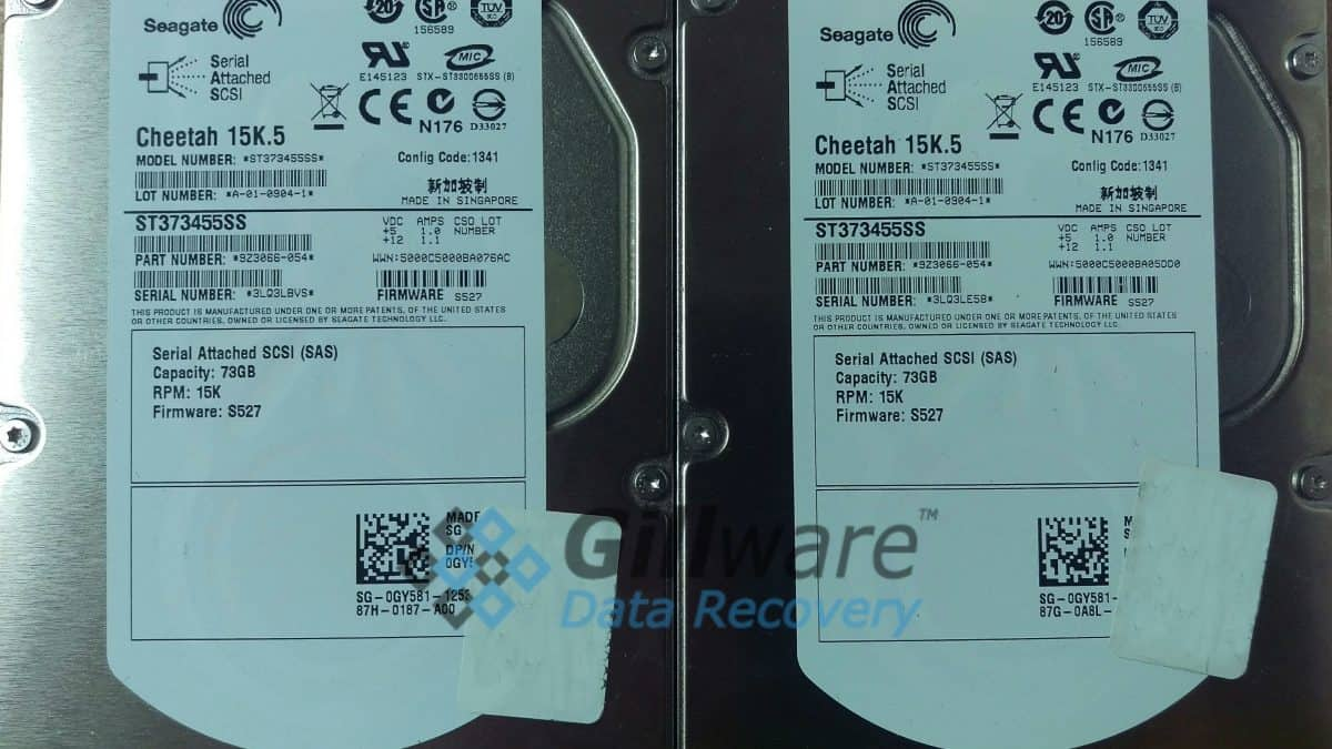 2 Seagate Cheetah hard drives