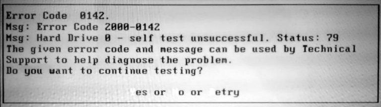 Dell Error Code 0142 Data Recovery