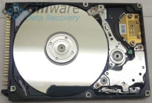 Picture of inside of hard drive