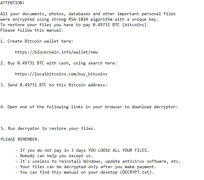 An example of a ransomware ransom note. Proper ransomware prevention techniques can keep your data safe and (your bank account full)
