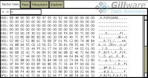 Screenshot of PGP header in Hombre software