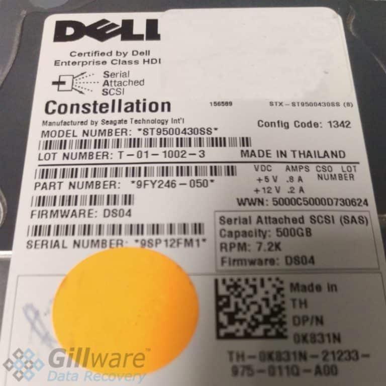 Dell 500GB Constellation hard drive