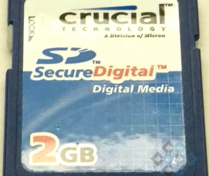Crucial 2GB SD Card