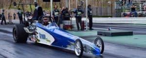Drag car on track