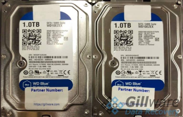 2 Western Digital 1TB hard drives