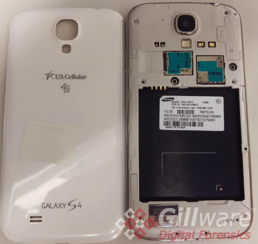 Samsung Galaxy S4 forensics