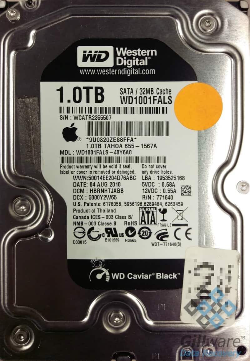 Western Digital hard drive recovery