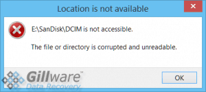 "Corrupted SD card recovery: ""The file or directory is corrupted and unreadable."""