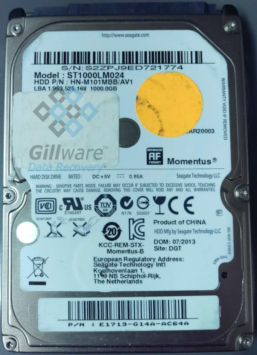 Seagate hard drive repair