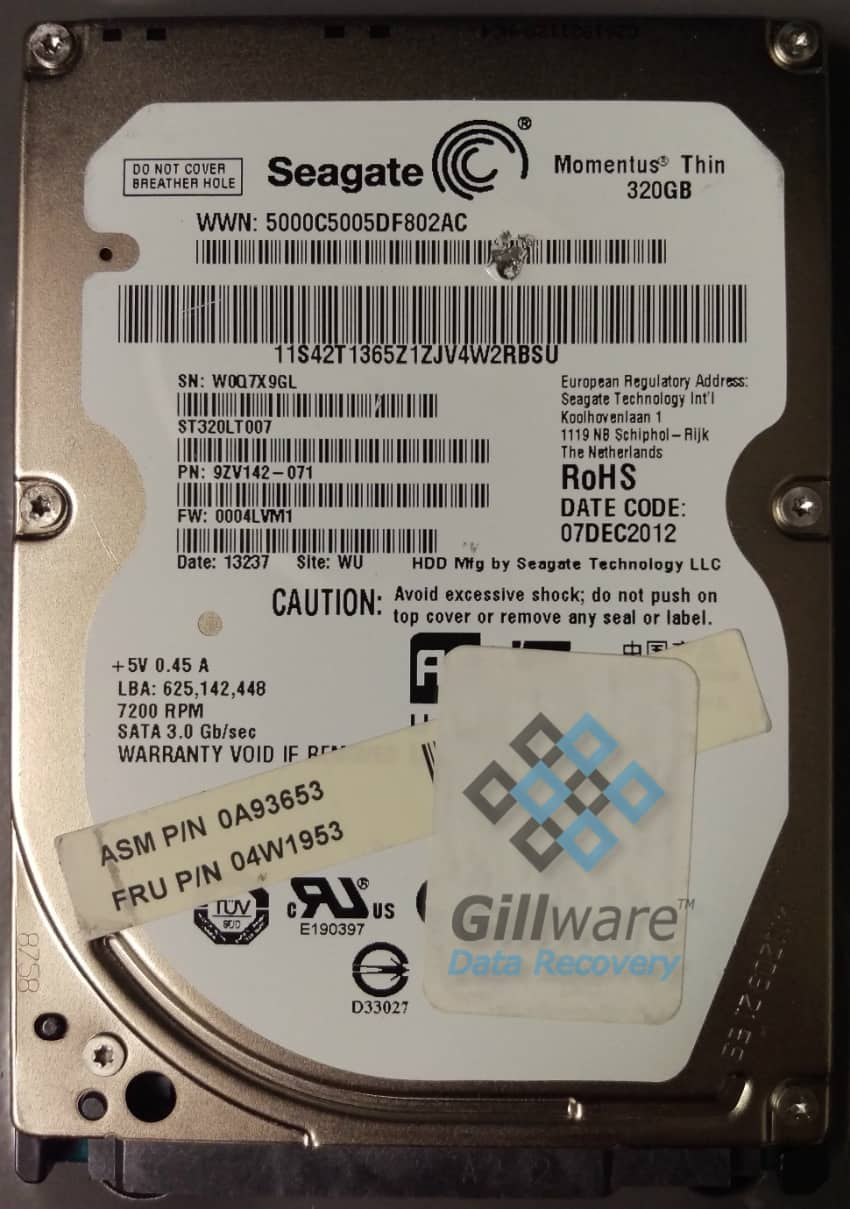 The client's beeping Seagate hard drive