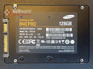 Samsung solid state drive forensics