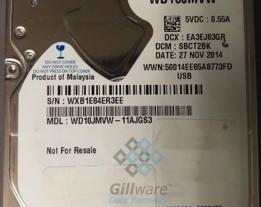 Clicking Western Digital hard drive