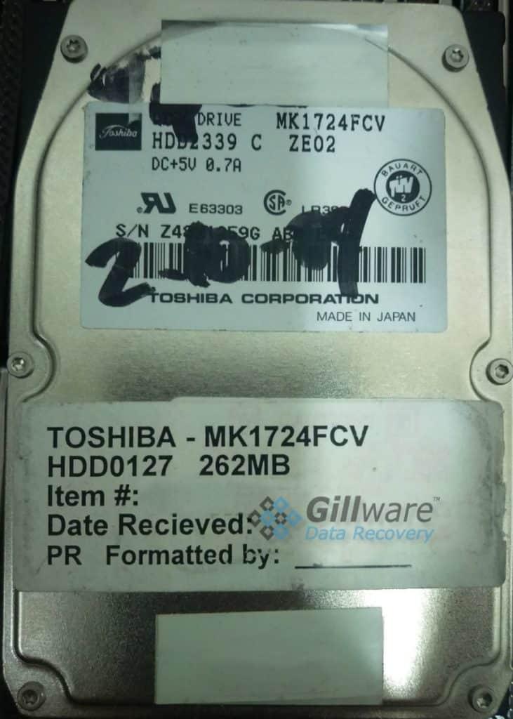 Toshiba data recovery