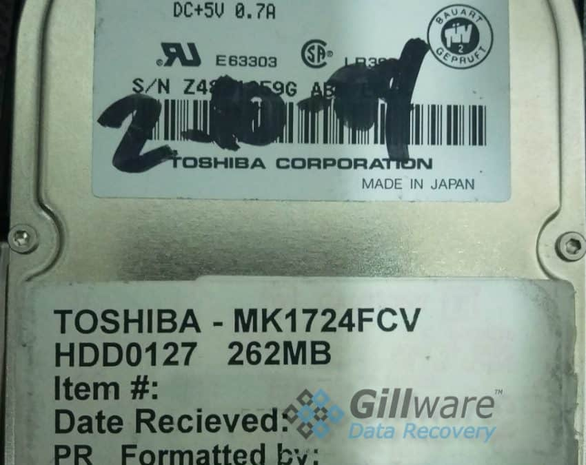 Toshiba data recovery