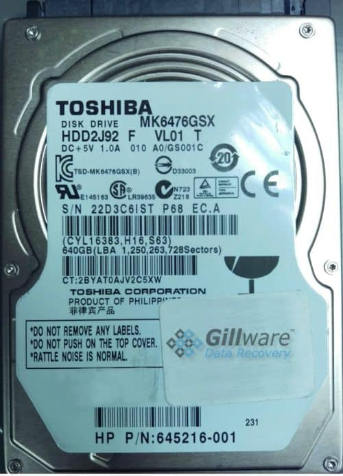 Toshiba HDD Recovery Case Study: Hard Drive Clicking ...