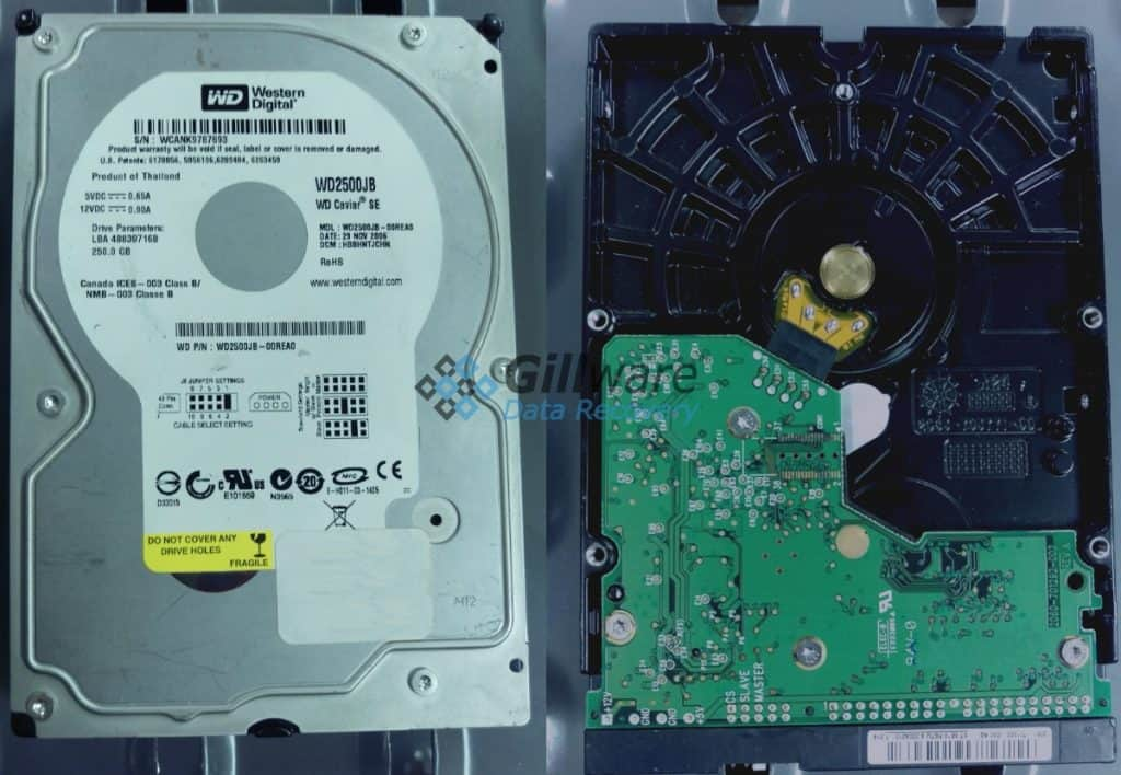 VDI recovery and hard drive PCB replacement