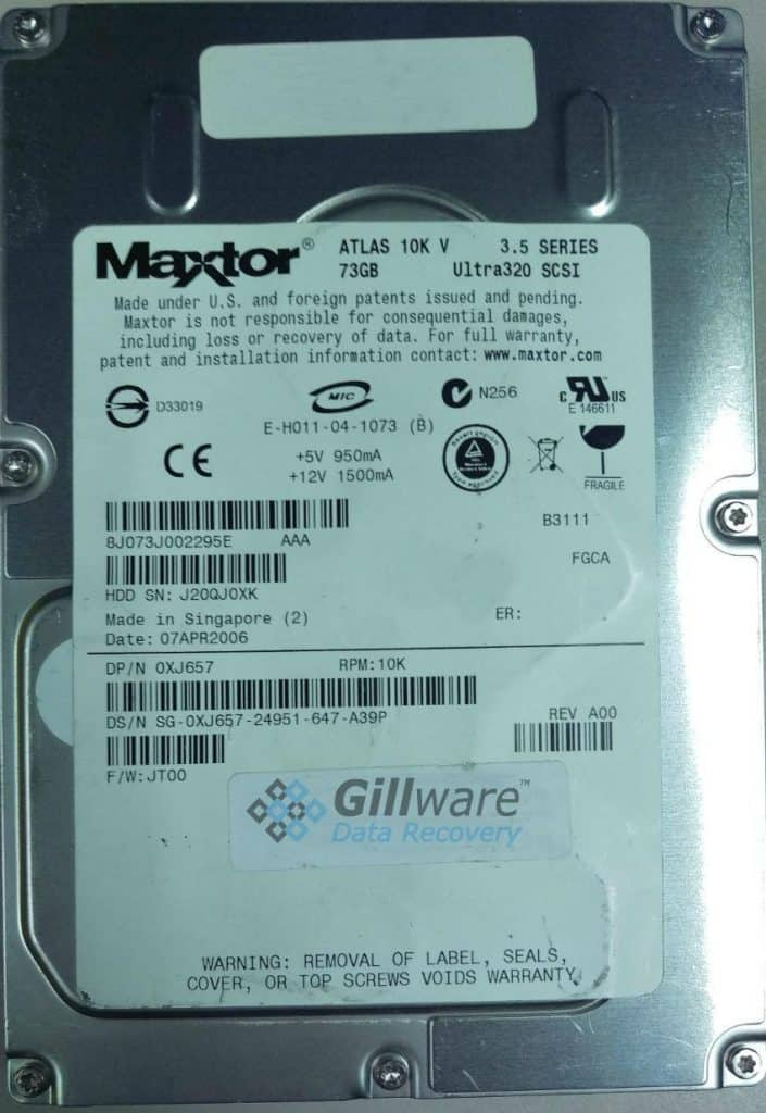 Maxtor RAID Recovery