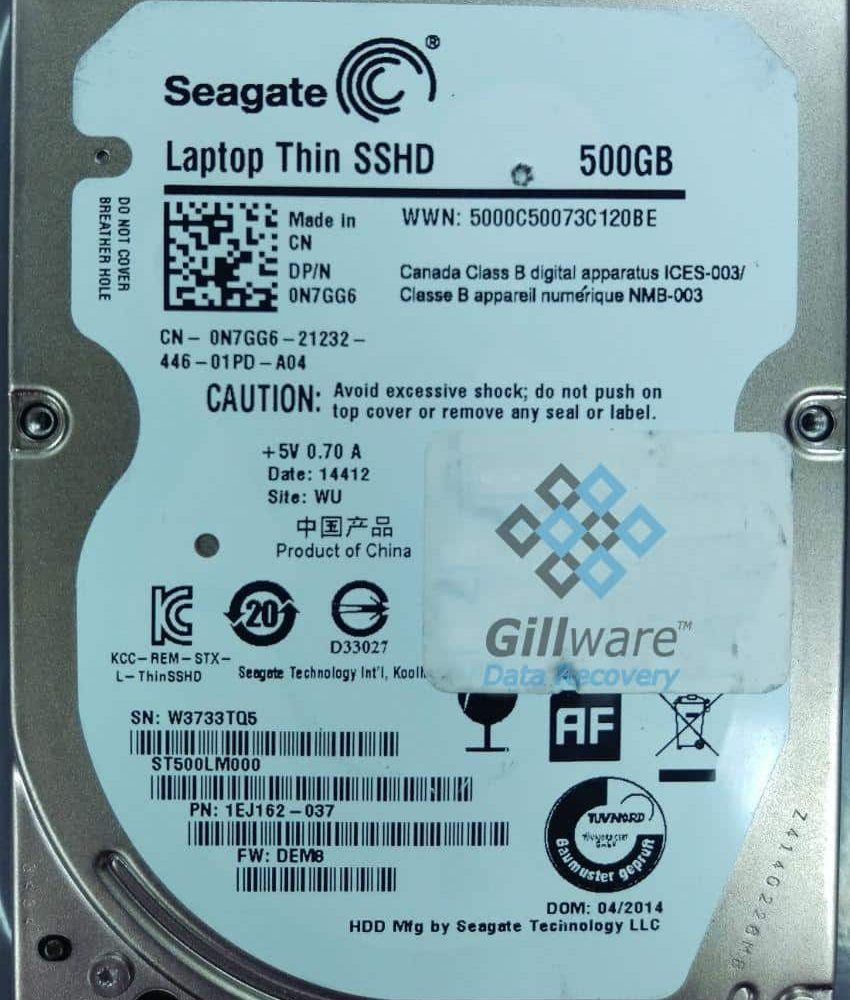 Seagate Laptop SSHD Recovery