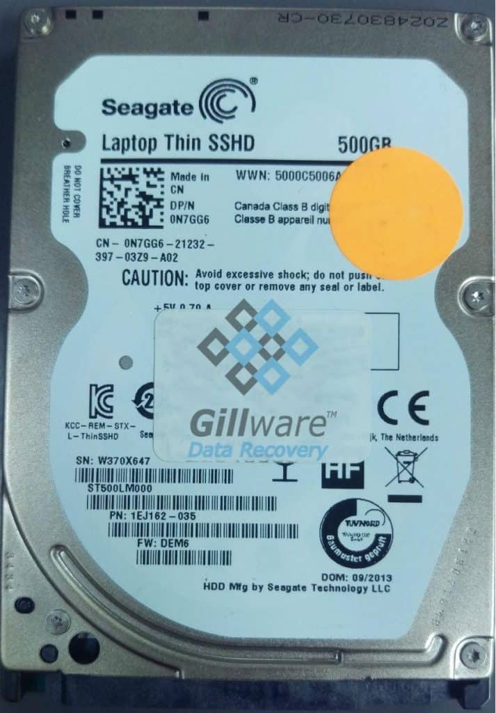 Seagate HDD recovery