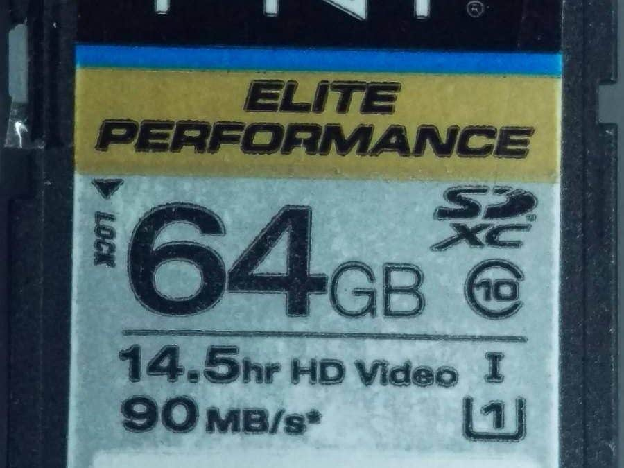 Photo recovery: PNY Elite Performance SD Card