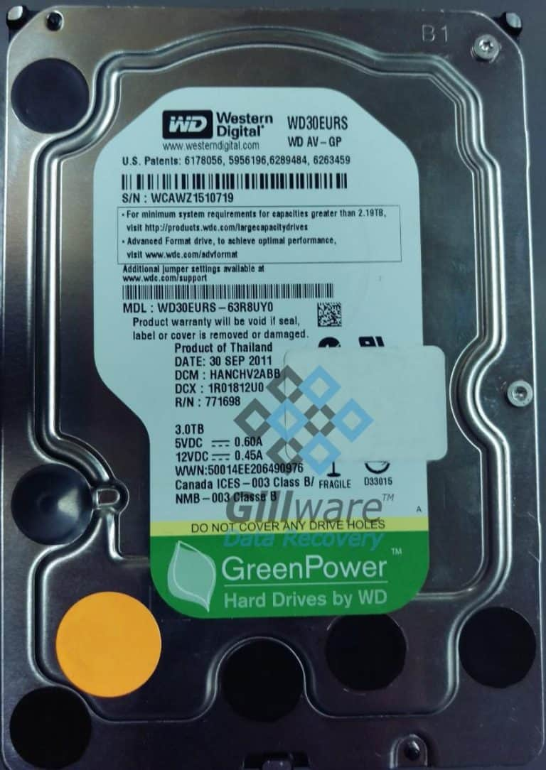 NAS recovery: hard drive prompts for reformat